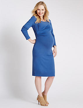 Maternity Twisted Front Dress