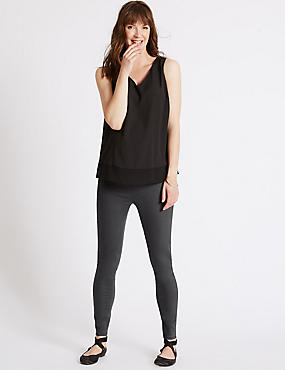 Maternity Cotton Rich Jeggings , CHARCOAL, catlanding
