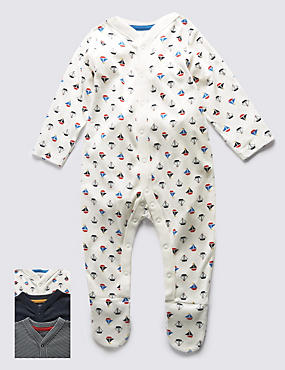 3 Pack Skin Kind™ Sleepsuits