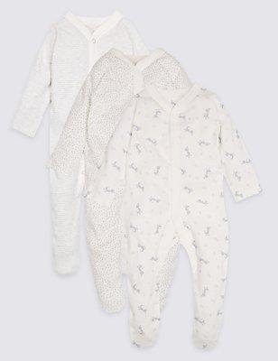 3er-Pack Unisex-Schlafanzüge aus reiner Baumwolle, GRAU, catlanding