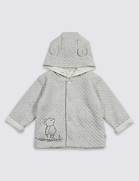 Winnie The Pooh Hooded Jacket , WINTER WHITE, catlanding