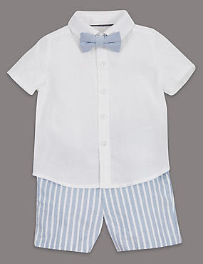 3 Piece Shirt, Shorts & Bow Tie Outfit