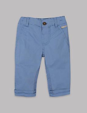 Pantalón 100% algodón, AZUL, catlanding
