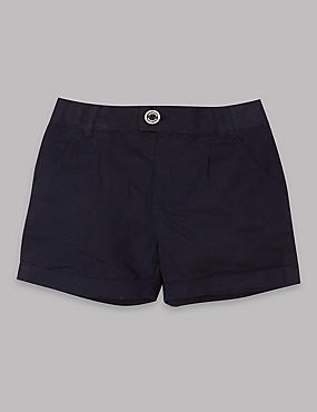 Cotton Rich Shorts, DARK NAVY, catlanding