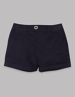 Pantalón corto de algodón, AZULÓN OSCURO, catlanding