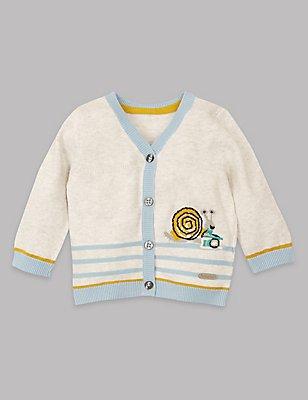 Pure Cotton Cardigan, GREY MARL, catlanding