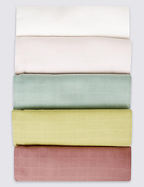 5 Pack Pure Cotton Muslin Squares, LIGHT PINK MIX, catlanding