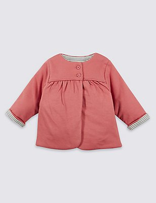 Pure Cotton Jersey Jacket, DARK ROSE, catlanding