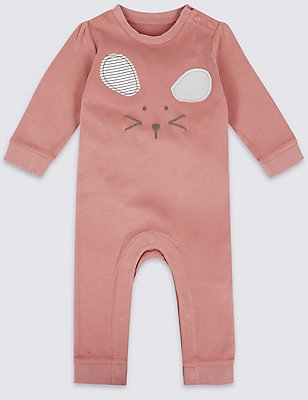 Pure Cotton Mouse Face All in One, ROSE PINK, catlanding