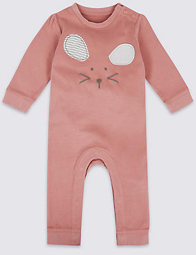Mouse Face Pure Cotton All in One, ROSE PINK, catlanding
