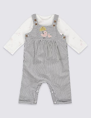 2 Piece Cord Applique Dunagree and Bodysuit, GREY MIX, catlanding