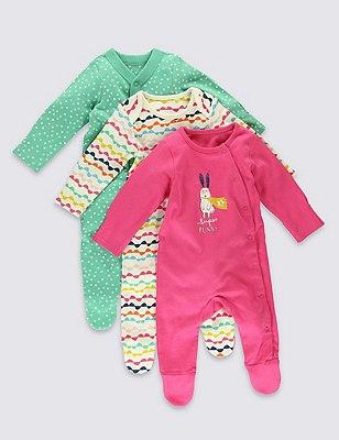 3 Pack Bunny Superhero Sleepsuits, YELLOW MIX, catlanding