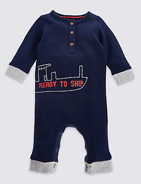 Pure Cotton All-in-One , NAVY MIX, catlanding