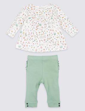 Conjunto de leggings y top 100% algodón de 2 piezas, ROJO ROSA OSCURO, catlanding