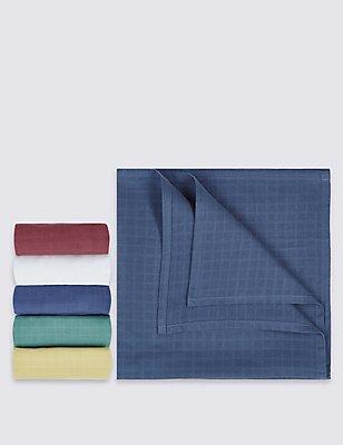 5er-Pack quadratische Mulltücher aus reiner Baumwolle, BLAU MELANGE, catlanding