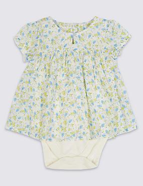 2 Piece Modal Blend Bodysuit Dress , MULTI, catlanding