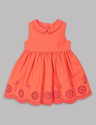 Pure Cotton Prom Dress , CORAL, catlanding