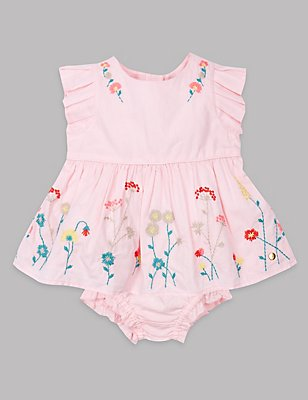 2 Piece Pure Cotton Dress with Knickers , SHERBERT, catlanding