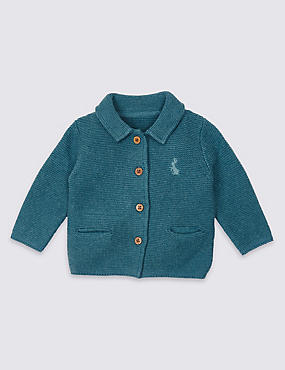 Pure Cotton Peter Rabbit™ Cardigan, TEAL, catlanding