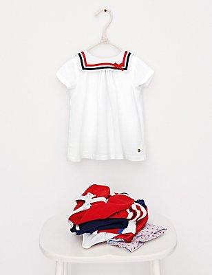 Modal Blend Sailor Top, WHITE MIX, catlanding