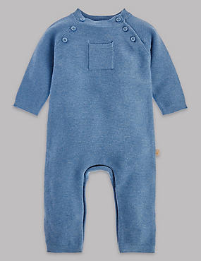 Pure Cotton Knitted All in One, LIGHT BLUE, catlanding