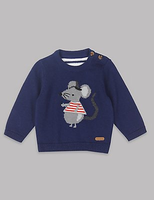Applique Baby Jumper, NAVY MIX, catlanding