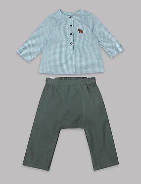 2 Piece Shirt & Trousers Outfit , GREY MIX, catlanding