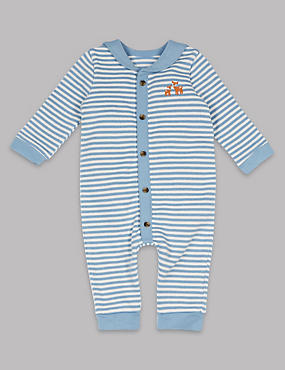 Pure Cotton Striped All in One, BLUE MIX, catlanding