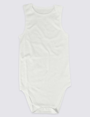 Pure Cotton Flat Seams Bodysuit (9-16 Years), WHITE, catlanding