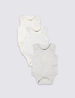 3 Pack Premature Pure Cotton Bodysuits, PINK MIX, catlanding