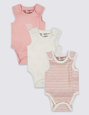 3 Pack Girls Premature Bodysuits, PINK MIX, catlanding