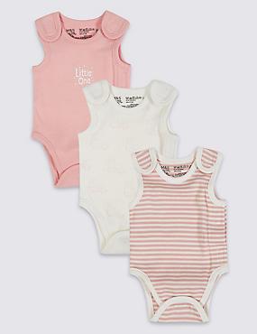 Set van 3 rompertjes voor vroeggeboren meisjes, ROZE MIX, catlanding