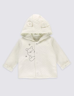 Winnie the Pooh Baby Quilted Jacket, WHITE MIX, catlanding
