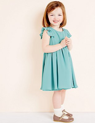 Girls Woven Party Dress (3 Months - 5 Years), GREEN, catlanding