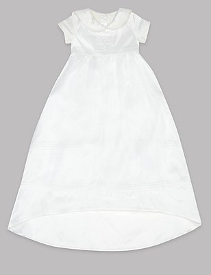Pure Silk Christening Gown, IVORY, catlanding