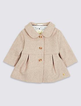 Wool Rich Coat, OATMEAL, catlanding