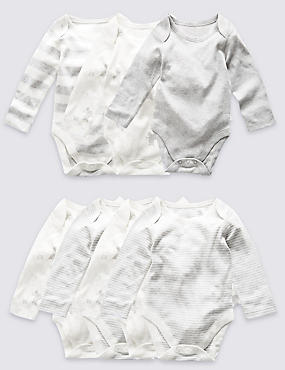 7 Pack Pure Cotton Skin Kind™ Bodysuits