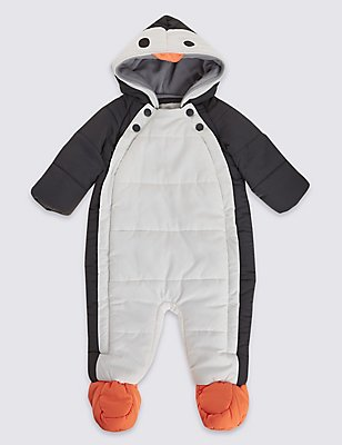 Penguin Snowsuit with Stormwear™, BLACK MIX, catlanding