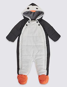 Combinaison de ski à motif pingouin, dotée de la technologie Stormwear™, NOIR ASSORTI, catlanding