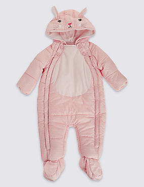 Bunny Snowsuit with Stormwear™, PALE PINK, catlanding