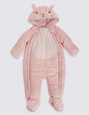Combinaison de ski à motif lapin, dotée de la technologie Stormwear™, ROSE PÂLE, catlanding