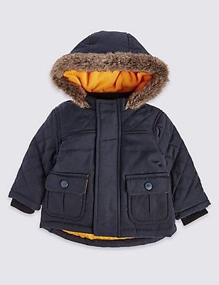 Long Sleeve Navy Parka with Stormwear™, NAVY, catlanding
