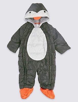 Schneeanzug mit Pinguin-Design, SCHWARZ MELANGE, catlanding