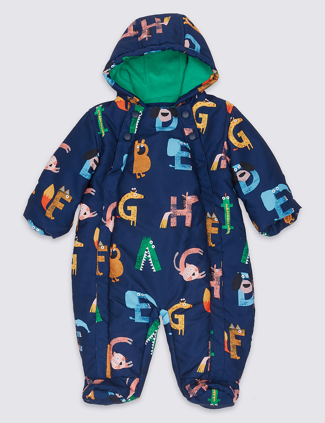 Letter Print Snowsuit With Stormwear Trade