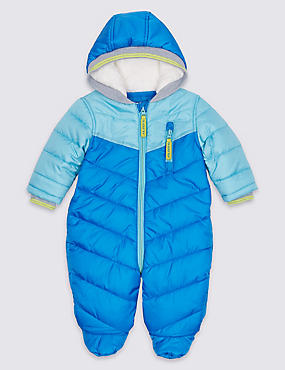 Sporty Long Sleeve Snowsuit, BLUE, catlanding