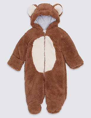 Monkey Long Sleeve Snowsuit, BROWN MIX, catlanding