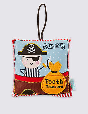 Pirate Tooth Fairy Cushion, , catlanding
