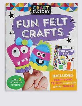 Craft Factory Fun Felt Crafts Finger Puppets , , catlanding