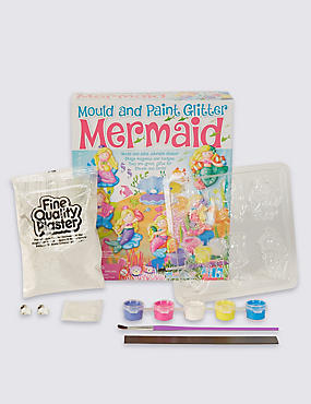 Mould & Paint Glitter Mermaid Craft Kit, , catlanding