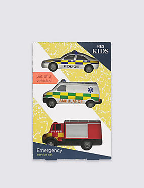 3 Pack Emergency Vehicles , , catlanding